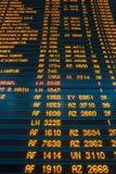 Tablero de la información del vuelo del aeropuerto Fotos de archivo