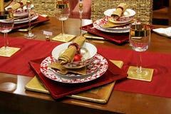 Tablero de la mesa de la Navidad fotografía de archivo libre de regalías
