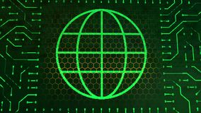 Tablero de la muestra de la cartera con la esfera verde Imagenes de archivo