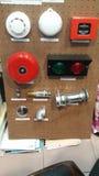 Tablero de la muestra de la protección contra los incendios Foto de archivo
