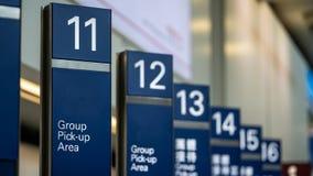Tablero de la muestra del área de la recogida del grupo del aeropuerto fotografía de archivo libre de regalías