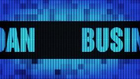 Tablero de la muestra de la pantalla de la pared de Front Text Scrolling LED del préstamo empresarial stock de ilustración