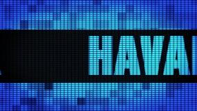 Tablero de la muestra de la pantalla de la pared de HAVANA Front Text Scrolling LED ilustración del vector