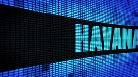 Tablero de la muestra de la pantalla de la pared de HAVANA Text Scrolling LED stock de ilustración