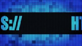 Tablero de la muestra de la pantalla de la pared de Https Front Text Scrolling LED ilustración del vector