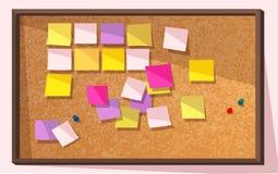 Tablero de la nota de post-it - vector Fotografía de archivo libre de regalías