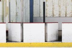 Tablero de la pista de hockey sobre hielo imagenes de archivo