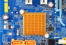 Tablero de la placa madre del ordenador Foto de archivo