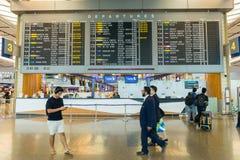 Tablero de la salida en el aeropuerto Singapur de Changi Fotografía de archivo