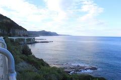 Tablero de la señalización de Cliff Bridge del mar Foto de archivo libre de regalías
