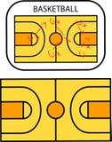 Tablero de la táctica del baloncesto stock de ilustración