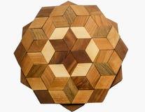 Tablero de madera de Brown aislado en un fondo blanco foto de archivo libre de regalías