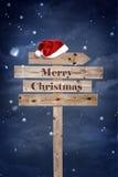 Tablero de madera de la Navidad imagen de archivo