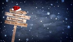 Tablero de madera de la Navidad foto de archivo libre de regalías