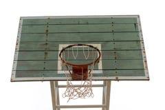 Tablero de madera del baloncesto Fotos de archivo libres de regalías
