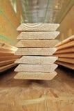 Tablero de madera para la construcción de viviendas Fotografía de archivo libre de regalías
