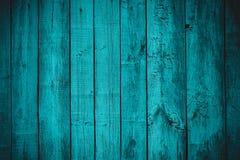 Tablero de madera planked azul estilizado del vintage Fotos de archivo