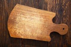 Tablero de madera vacío en fondo de madera rústico Imágenes de archivo libres de regalías