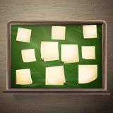 Tablero de mensajes con el marco de madera EPS 10 Imágenes de archivo libres de regalías