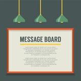 Tablero de mensajes en blanco en la pared Fotos de archivo libres de regalías