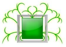 Tablero de mensajes verde brillante con el marco de cristal Foto de archivo libre de regalías
