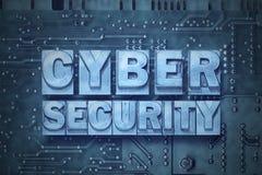 Tablero de PC cibernético de la seguridad Fotografía de archivo libre de regalías