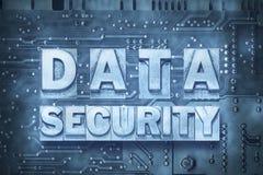 Tablero de PC de la seguridad de DATOS Foto de archivo
