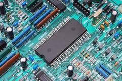 Tablero de procesador Foto macra Imagen de archivo