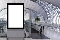 Tablero de publicidad en blanco imágenes de archivo libres de regalías