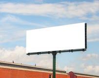 Tablero de publicidad grande en blanco 1 Imágenes de archivo libres de regalías