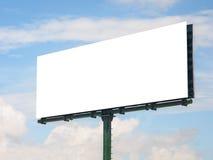 Tablero de publicidad grande en blanco 2 Imágenes de archivo libres de regalías