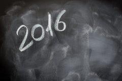 Tablero de tiza de la escuela del año 2016 Imagenes de archivo