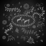 Tablero de tiza de la primavera Fotografía de archivo libre de regalías