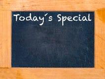 Tablero de tiza especial de hoy Imágenes de archivo libres de regalías