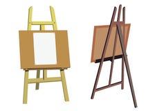 Tablero del arte del artista de la lona del vector del caballete ilustración del vector