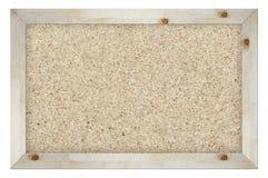 Tablero del corcho aislado en blanco Fotos de archivo libres de regalías