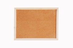 Tablero del corcho con el marco de madera Foto de archivo libre de regalías