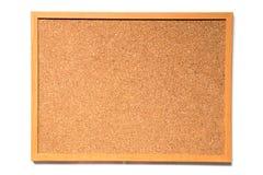 Tablero del corcho de Brown con el marco de madera Imagen de archivo