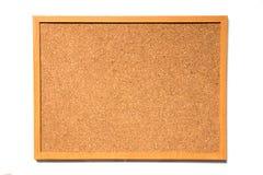 Tablero del corcho de Brown con el marco de madera Fotografía de archivo