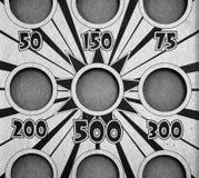 Tablero del lanzamiento del puf en blanco y negro Fotografía de archivo libre de regalías