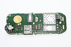 Tablero del silicio de un teléfono móvil Fotos de archivo libres de regalías