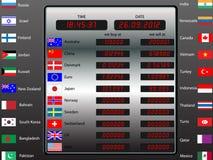 Tablero digital del intercambio de moneda Fotografía de archivo