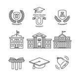 Tablero, educación, escuela y universidad del mortero libre illustration
