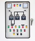 Tablero eléctrico del panel de control  foto de archivo libre de regalías