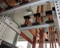 Tablero eléctrico del poder más elevado con las barras de cobre Fotografía de archivo libre de regalías