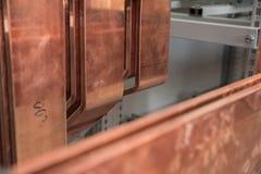 Tablero eléctrico del poder más elevado con las barras de cobre Fotos de archivo