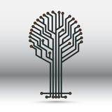 Tablero electrónico bajo la forma de árbol Fotografía de archivo libre de regalías