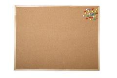 Tablero en blanco del corcho Imágenes de archivo libres de regalías