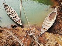 Tablero en el agua Fotografía de archivo