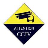 Tablero en funcionamiento del CCTV stock de ilustración